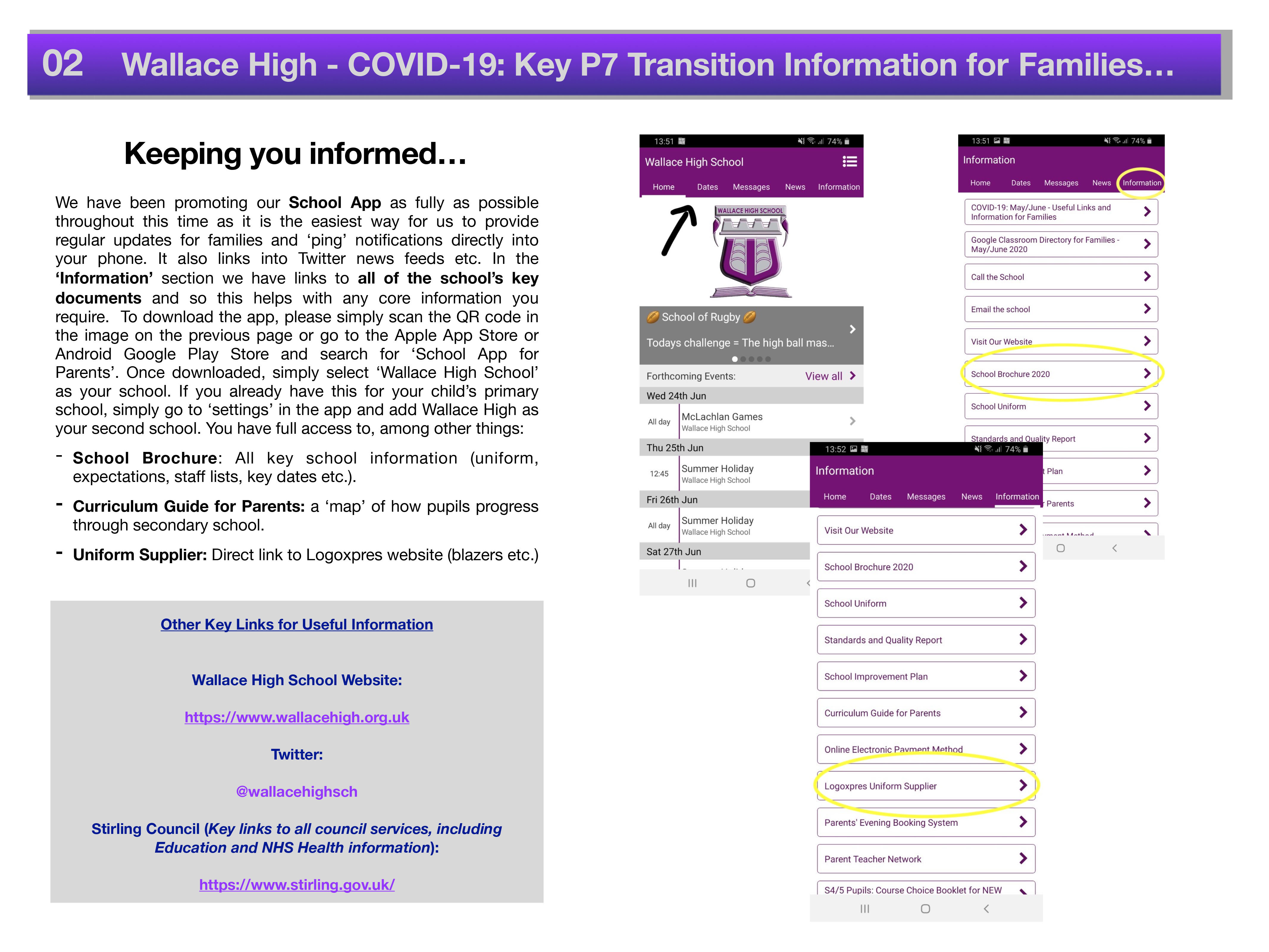 Covid 19 Primary Transition Parental Information 2020 2