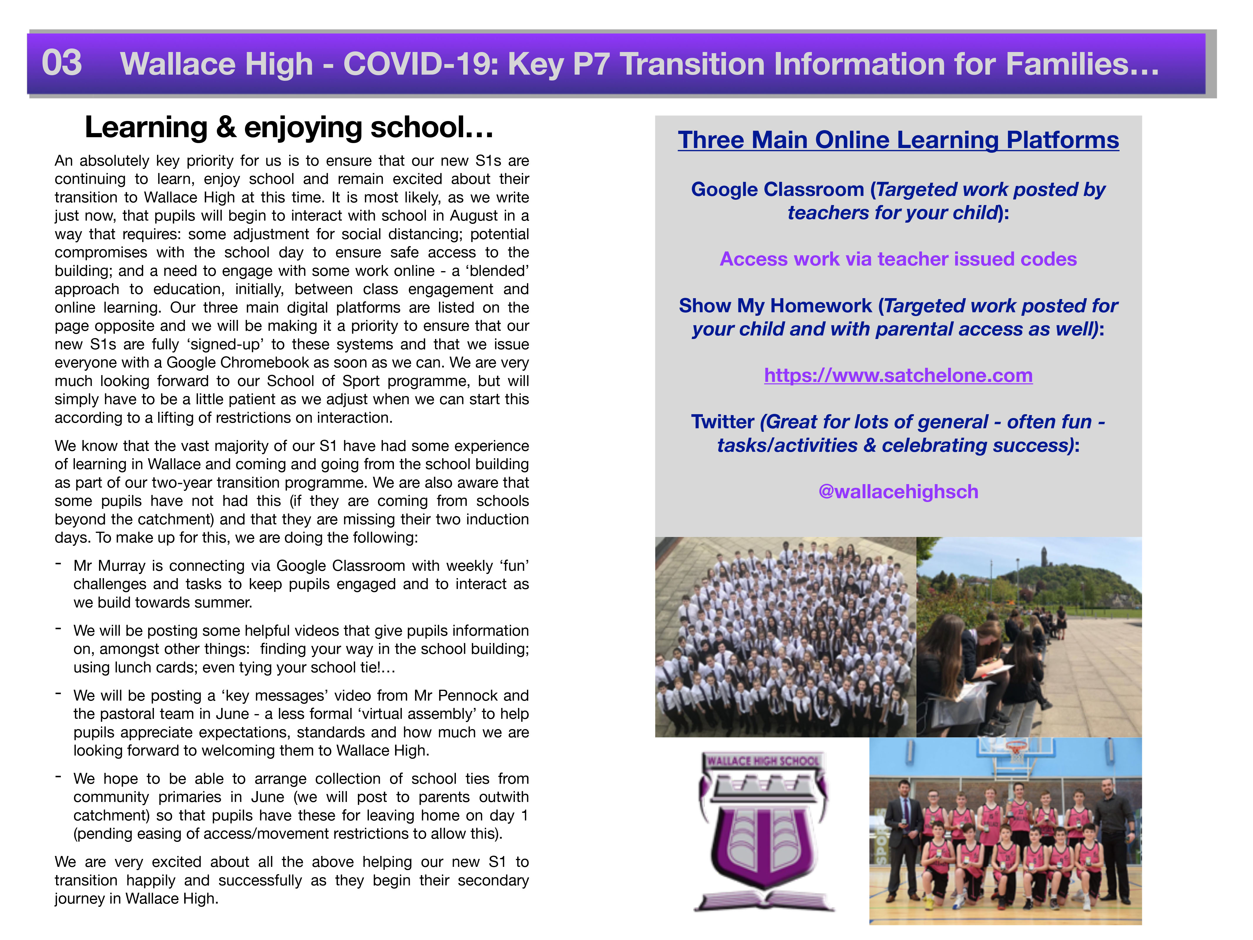 Covid 19 Primary Transition Parental Information 2020 3
