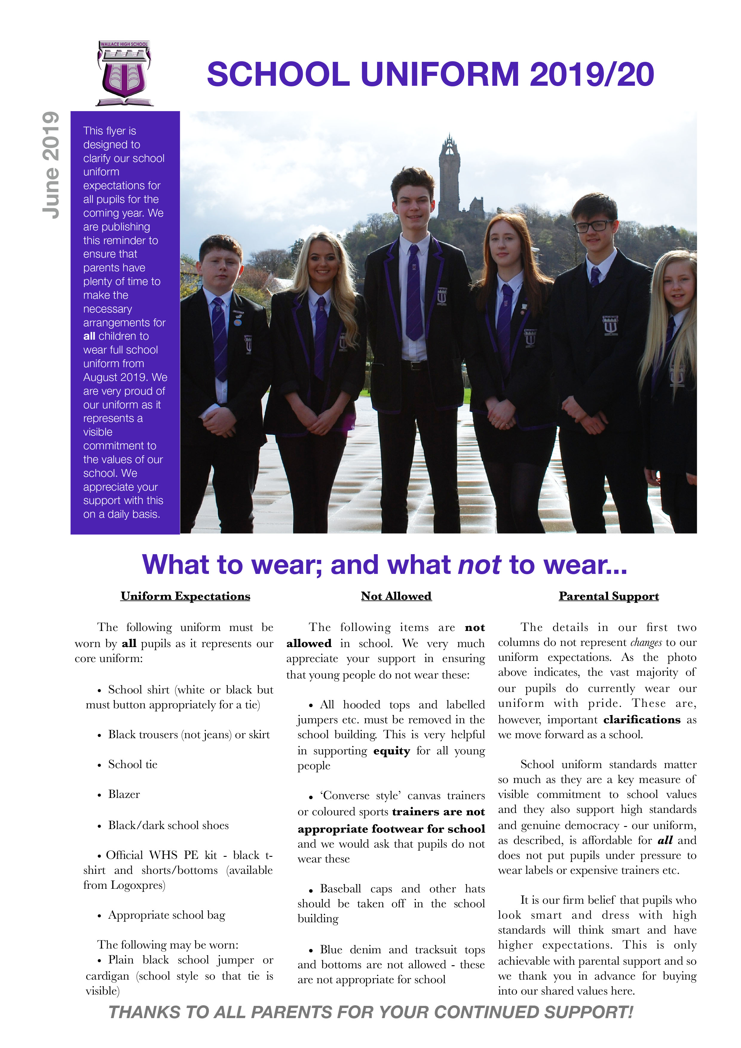 School Uniform Flyer 201920 JUNE 2019