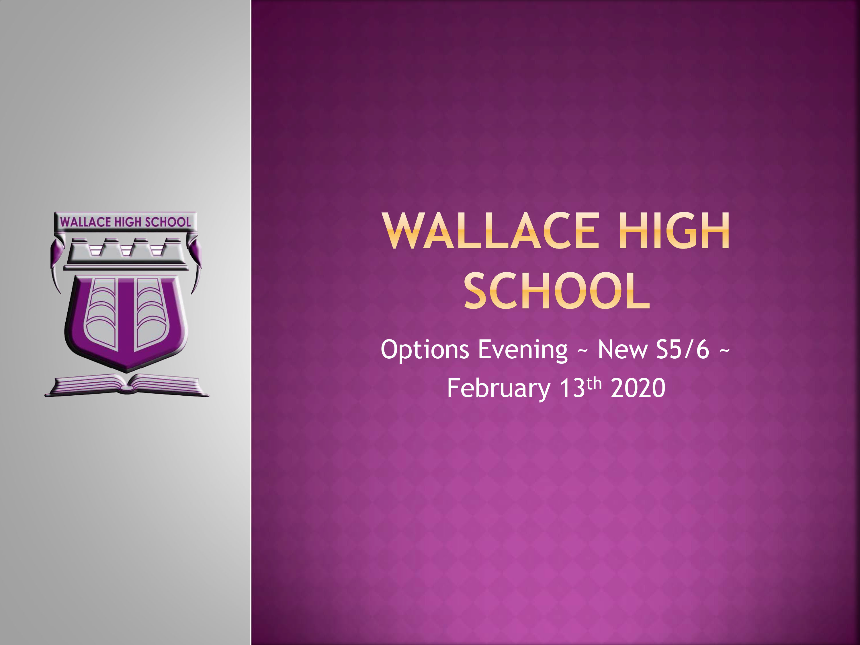 Wallace High Options Evening S45 Feb 13th 2020 1