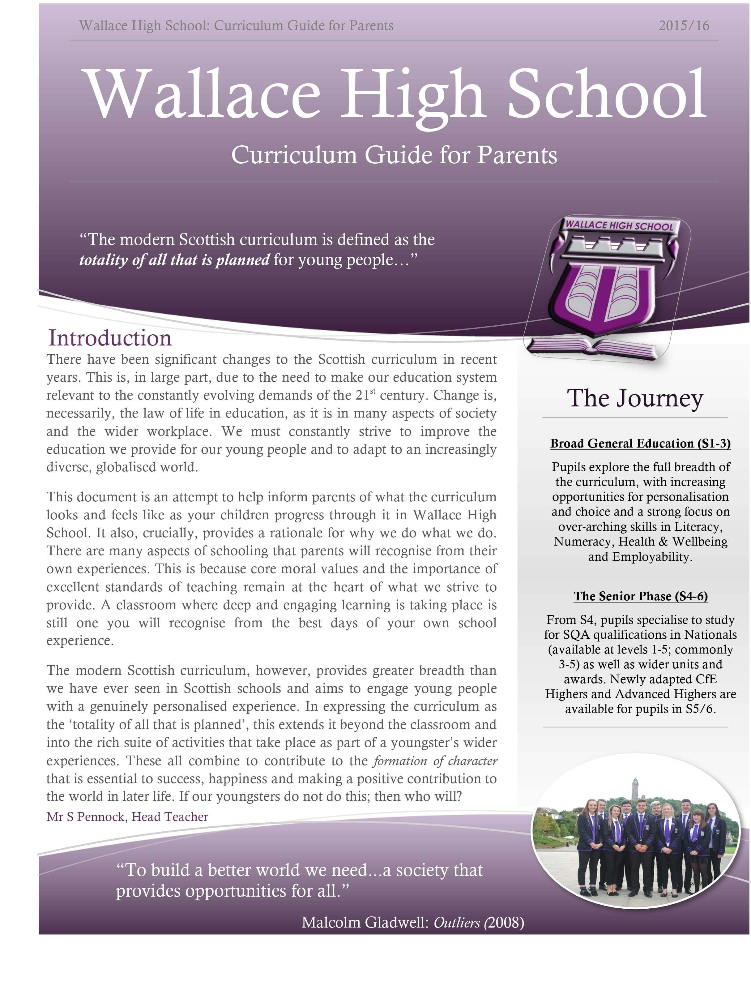 curriculum guide for parents - curriculum